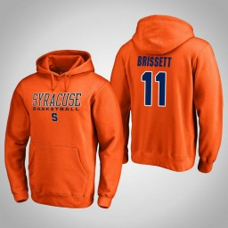 Syracuse Orange #11 Oshae Brissett Men's Orange College Basketball Hoodie