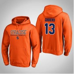 Syracuse Orange #13 Paschal Chukwu Men's Orange College Basketball Hoodie