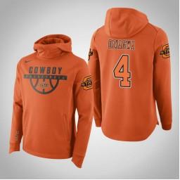 Oklahoma St Cowboys #4 Thomas Dziagwa Men's Orange College Basketball Hoodie