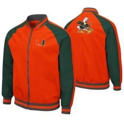 Miami Hurricanes Orange Kent Full-Zip Bomber Jacket