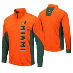 Miami Hurricanes Orange Bart Windshirt Pullover Jacket
