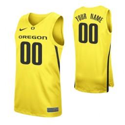 Oregon Ducks Replica Custom Jersey Yellow