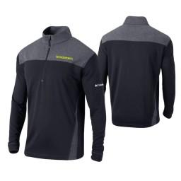 Oregon Ducks Black Omni-Wick Standard Quarter-Zip Jacket