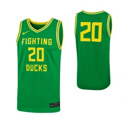 Oregon Ducks #20 Authentic College Basketball Jersey Green