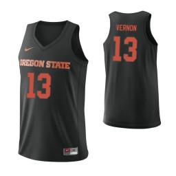 Women's Oregon State Beavers #13 Antoine Vernon Authentic College Basketball Jersey Black