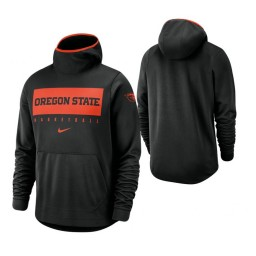 Oregon State Beavers Black Spotlight Basketball Hoodie