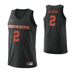 Women's Oregon State Beavers #2 Kye Blaser Authentic College Basketball Jersey Black