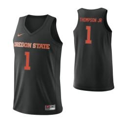 Women's Oregon State Beavers #1 Stephen Thompson Jr. Authentic College Basketball Jersey Black
