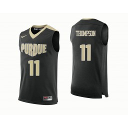 Purdue Boilermakers #11 P.J. Thompson Authentic College Basketball Jersey Black