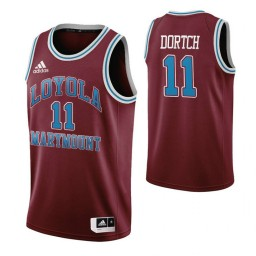Youth Loyola Marymount Lions #11 Parker Dortch Wine Authentic College Basketball Jersey