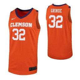 Youth Paul Grinde Authentic College Basketball Jersey Orange Clemson Tigers