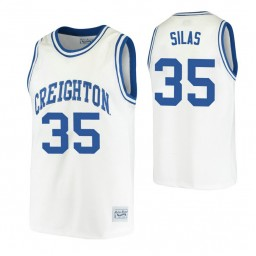 Youth Creighton Bluejays #35 Paul Silas White Authentic College Basketball Jersey