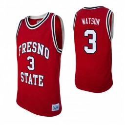 Fresno State Bulldogs #3 Paul Watson Red Authentic College Basketball Jersey