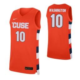 Women's Pearl Washington Authentic College Basketball Jersey Orange Syracuse Orange