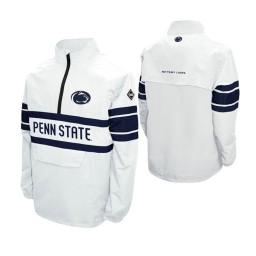 Penn State Nittany Lions White Alpha Windshell Quarter-Zip Jacket