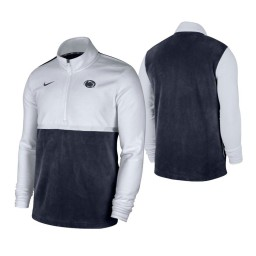 Penn State Nittany Lions White Navy Color Block Quarter-Zip Jacket