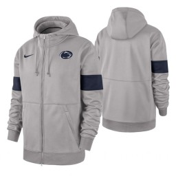 Penn State Nittany Lions Gray 2019 Sideline Therma-FIT Full-Zip Hoodie