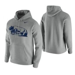 Penn State Nittany Lions Heathered Gray Vintage Logo Club Fleece Hoodie