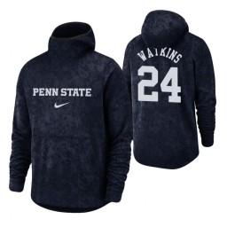 Penn State Nittany Lions Mike Watkins Navy Basketball Spotlight Pullover Hoodie