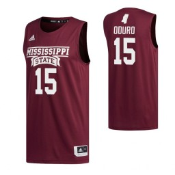 Youth Mississippi State Bulldogs #15 Prince Oduro Maroon Authentic College Basketball Jersey