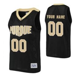 Purdue Boilermakers Custom Basketball Alumni Jersey Black