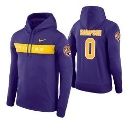 LSU Tigers #0 Brandon Sampson Men's Purple Pullover Hoodie