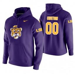 LSU Tigers #00 Custom Men's Purple College Basketball Hoodie