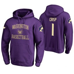 Washington Huskies #1 David Crisp Men's Purple College Basketball Hoodie