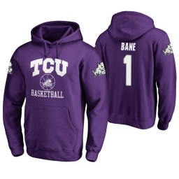 TCU Horned Frogs #1 Desmond Bane Men's Purple College Basketball Hoodie