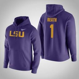 LSU Tigers #1 Duop Reath Men's Purple Pullover Hoodie