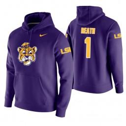 LSU Tigers #1 Duop Reath Men's Purple College Basketball Hoodie