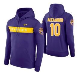 LSU Tigers #10 Galen Alexander Men's Purple Pullover Hoodie