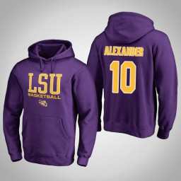 LSU Tigers #10 Galen Alexander Men's Purple College Basketball Hoodie