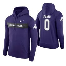 TCU Horned Frogs #0 Jaylen Fisher Men's Purple Pullover Hoodie