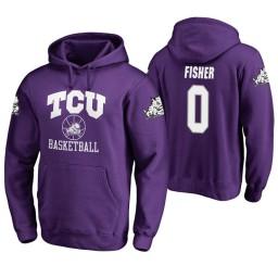 TCU Horned Frogs #0 Jaylen Fisher Men's Purple College Basketball Hoodie