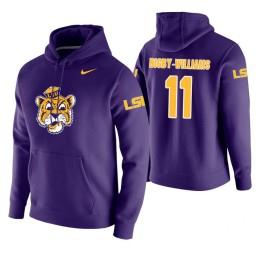 LSU Tigers #11 Kavell Bigby-Williams Men's Purple College Basketball Hoodie