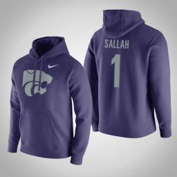 Kansas State Wildcats #1 Mawdo Sallah Men's Purple Pullover Hoodie