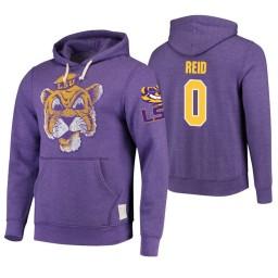 LSU Tigers #0 Naz Reid Men's Purple College Basketball Hoodie