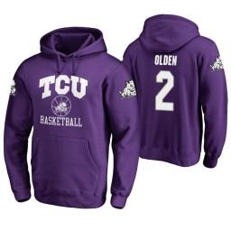TCU Horned Frogs #2 Shawn Olden Men's Purple College Basketball Hoodie