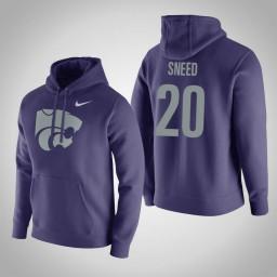 Kansas State Wildcats #20 Xavier Sneed Men's Purple Pullover Hoodie