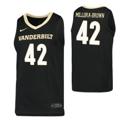 Youth Quentin Millora-Brown Authentic College Basketball Jersey Black Vanderbilt Commodores