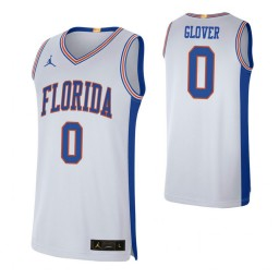 Women's Florida Gators #0 Ques Glover White Authentic College Basketball Jersey