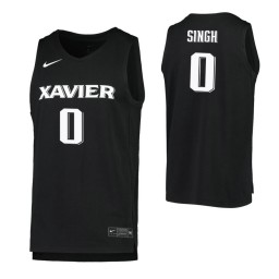Women's Ramon Singh Authentic College Basketball Jersey Black Xavier Musketeers