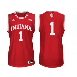 Indiana Hoosiers #1 Aljami Durham Authentic College Basketball Jersey Red