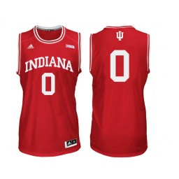 Indiana Hoosiers #0 Curtis Jones Authentic College Basketball Jersey Red