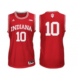 Indiana Hoosiers #10 Johnny Jager Authentic College Basketball Jersey Red