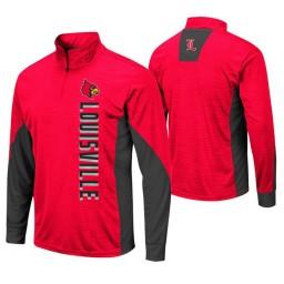 Louisville Cardinals Red Bart Windshirt Pullover Jacket