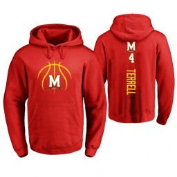 Maryland Terrapins #4 Andrew Terrell Men's Red College Basketball Hoodie