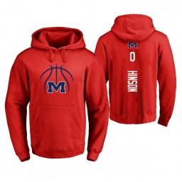 Ole Miss Rebels #0 Blake Hinson Men's Red College Basketball Hoodie