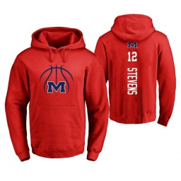 Ole Miss Rebels #12 Bruce Stevens Men's Red College Basketball Hoodie